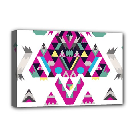Geometric Play Deluxe Canvas 18  x 12
