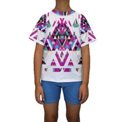 Geometric Play Kids  Short Sleeve Swimwear