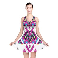 Geometric Play Reversible Skater Dress