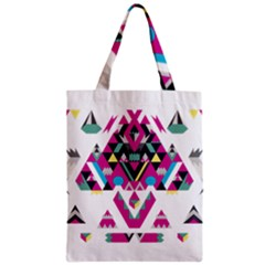 Geometric Play Zipper Classic Tote Bag