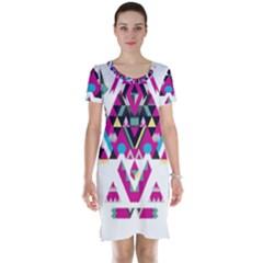Geometric Play Short Sleeve Nightdress