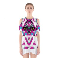 Geometric Play Shoulder Cutout One Piece