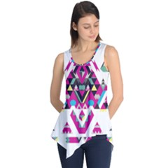 Geometric Play Sleeveless Tunic