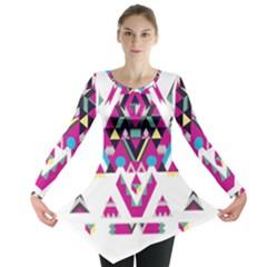 Geometric Play Long Sleeve Tunic
