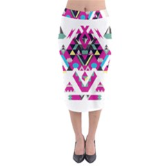 Geometric Play Midi Pencil Skirt