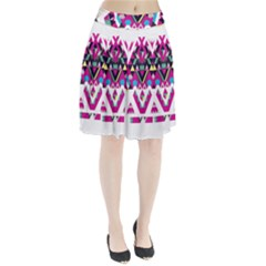 Geometric Play Pleated Skirt