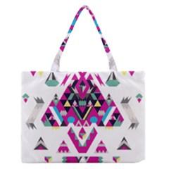 Geometric Play Medium Zipper Tote Bag