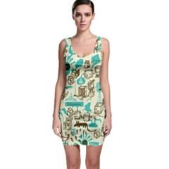 Telegramme Sleeveless Bodycon Dress