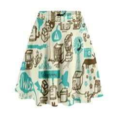 Telegramme High Waist Skirt