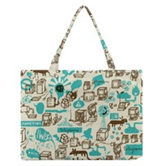 Telegramme Medium Zipper Tote Bag