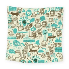 Telegramme Square Tapestry (large)