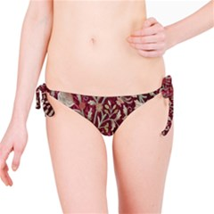 Crewel Fabric Tree Of Life Maroon Bikini Bottom