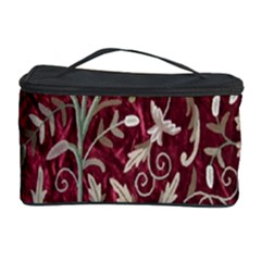 Crewel Fabric Tree Of Life Maroon Cosmetic Storage Case
