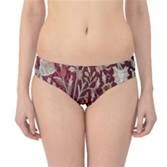Crewel Fabric Tree Of Life Maroon Hipster Bikini Bottoms