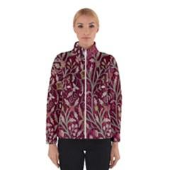 Crewel Fabric Tree Of Life Maroon Winterwear