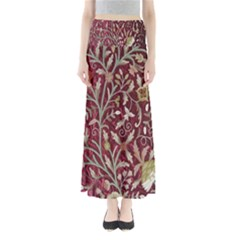 Crewel Fabric Tree Of Life Maroon Maxi Skirts