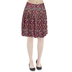 Crewel Fabric Tree Of Life Maroon Pleated Skirt