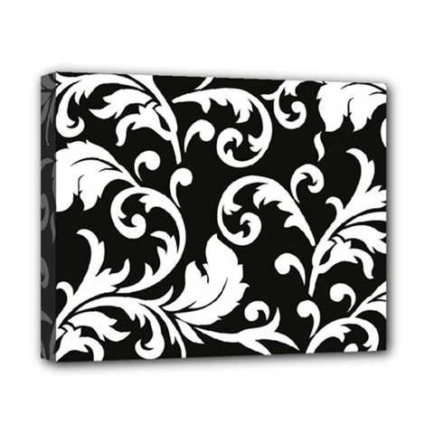 Vector Classical Traditional Black And White Floral Patterns Canvas 10  X 8
