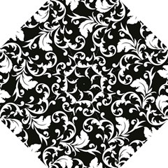 Vector Classical Traditional Black And White Floral Patterns Folding Umbrellas