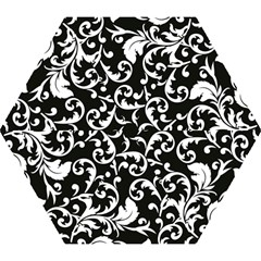 Vector Classical Traditional Black And White Floral Patterns Mini Folding Umbrellas