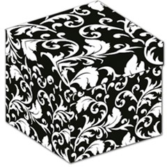 Vector Classical Traditional Black And White Floral Patterns Storage Stool 12