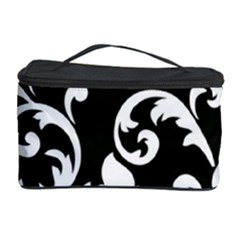 Vector Classical Traditional Black And White Floral Patterns Cosmetic Storage Case