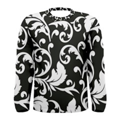 Vector Classical Traditional Black And White Floral Patterns Men s Long Sleeve Tee