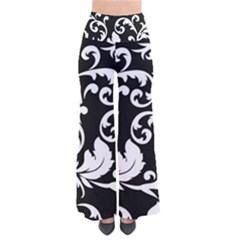 Vector Classical Traditional Black And White Floral Patterns Pants
