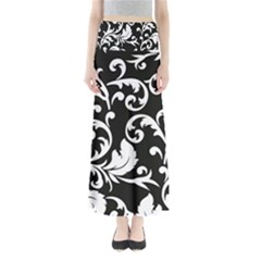Vector Classical trAditional Black And White Floral Patterns Maxi Skirts