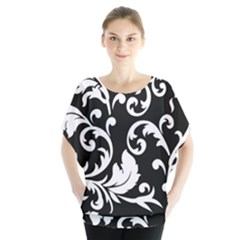 Vector Classical Traditional Black And White Floral Patterns Blouse