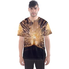 3d Beautiful Peacock Men s Sport Mesh Tee