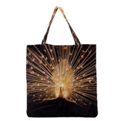 3d Beautiful Peacock Grocery Tote Bag