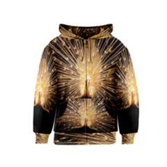 3d Beautiful Peacock Kids  Zipper Hoodie