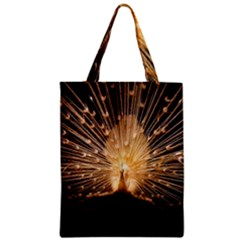 3d Beautiful Peacock Zipper Classic Tote Bag