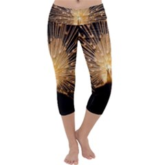 3d Beautiful Peacock Capri Yoga Leggings