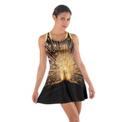 3d Beautiful Peacock Cotton Racerback Dress