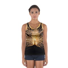 3d Beautiful Peacock Women s Sport Tank Top