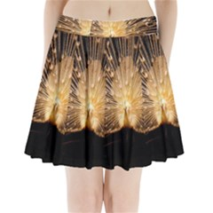 3d Beautiful Peacock Pleated Mini Skirt