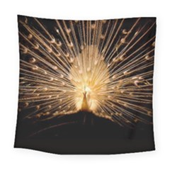 3d Beautiful Peacock Square Tapestry (large)