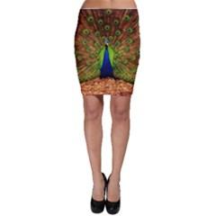 3d Peacock Bird Bodycon Skirt