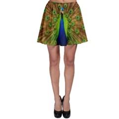 3d Peacock Bird Skater Skirt