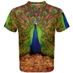 3d Peacock Bird Men s Cotton Tee