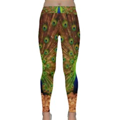 3d Peacock Bird Classic Yoga Leggings