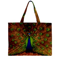 3d Peacock Bird Zipper Mini Tote Bag