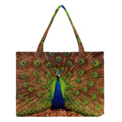3d Peacock Bird Medium Tote Bag