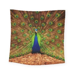 3d Peacock Bird Square Tapestry (small)