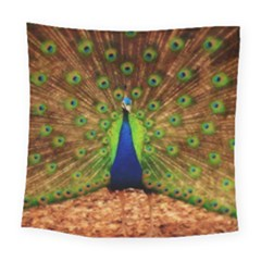 3d Peacock Bird Square Tapestry (large)