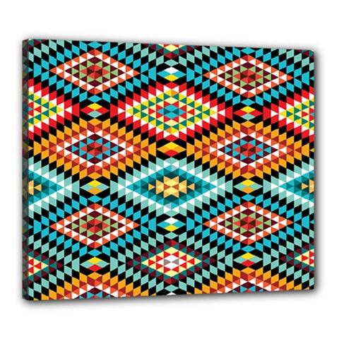 African Tribal Patterns Canvas 24  X 20