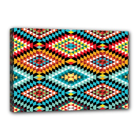 African Tribal Patterns Canvas 18  X 12