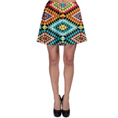 African Tribal Patterns Skater Skirt